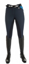 HKM PRO TEAM GLOBAL POCKET FLAP LADIES BREECHES - NAVY BLUE